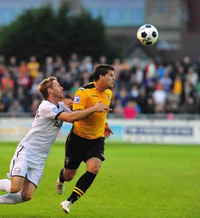 Newport County AFC striker Danny Crow