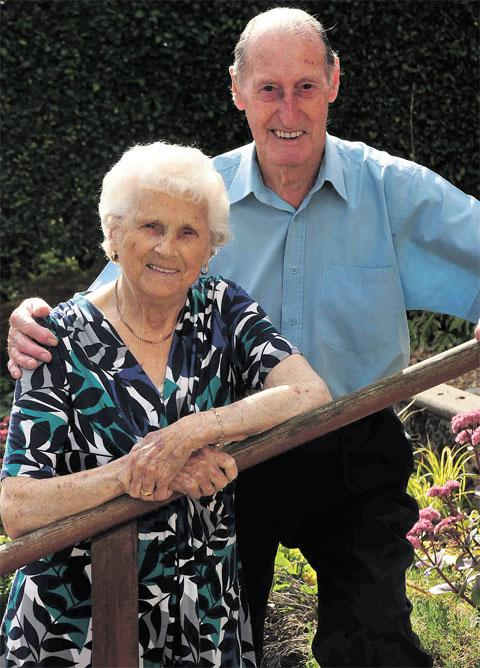 ANNIVERSARY: Mabel and Ken Beattie of Upper Cwmbran who are celebrating 70 years of marriage