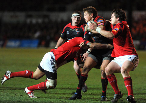 CALLING THE SHOTS: Lewis Robling makes his first start of the season for the Dragons at fly-half