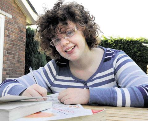 SUDOKU WHIZZ: Lizzy Rhodes won the prize for best under-16 in a national competition