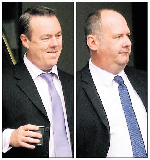 FLOUR THEFT: Julian Owen, left and Gary Beswick