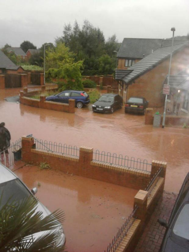 South Wales Argus: Zoe Lewis sent this picture of flooding on Cornwallis Way in Monmouth