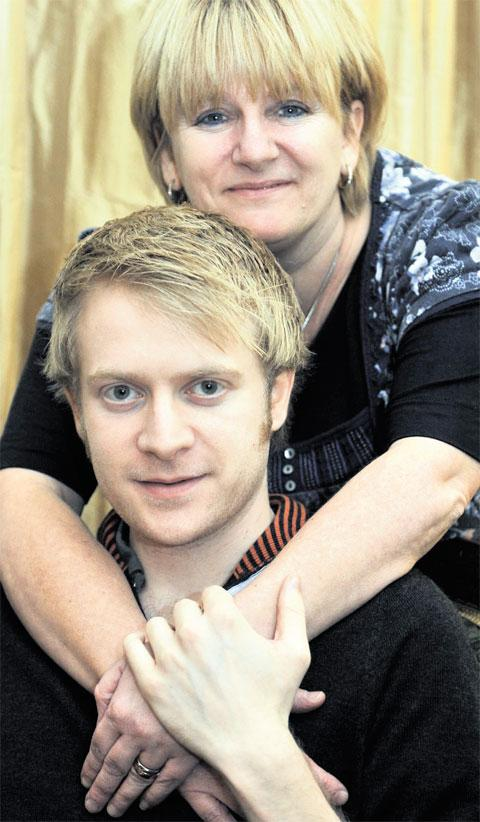 TRAGIC: Matthew Lammas with mum Helen Nutman