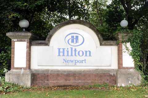 OUTBREAK: The Hilton Hotel in Newport