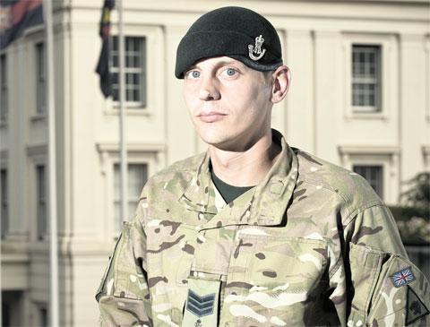 HONOUR: Serjeant Matthew Perry, of 2nd Battalion The Rifles, who has received a commendation from the Queen Soldier's Queen's award for work in Afghanistan