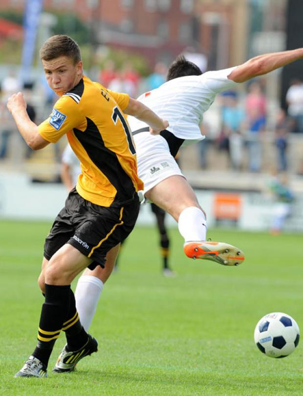 BRIGHT PROSPECT: Newport County's Lee Evans