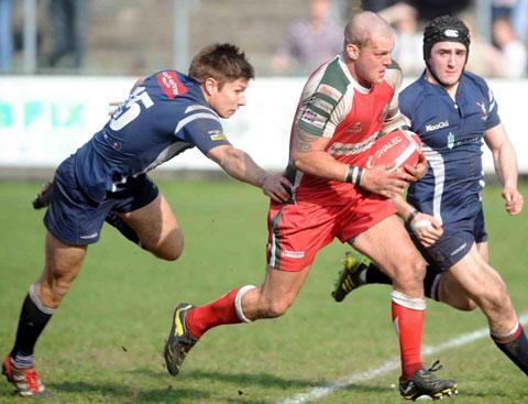 READY FOR BATTLE: Ebbw Vale's Ronny Kynes