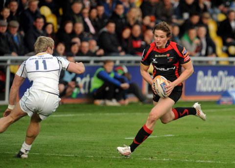 BRIGHT FUTURE: Newport Gwent Dragons full back Hallam Amos is set to make his Bedwas debut today