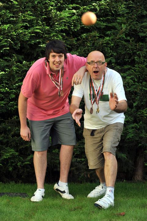 Cwmbran pair are World Egg Throwing Champions