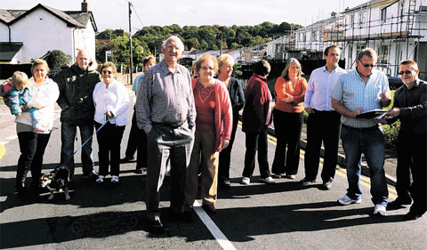 DEMONSTRATION: Residents of Ton Road, Cwmbran, protested about traffic problems
