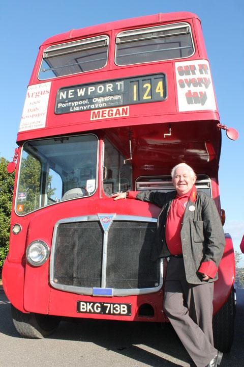 CLASSIC: Tony Jenkins with his 1964 AEC Western Welsh double decker