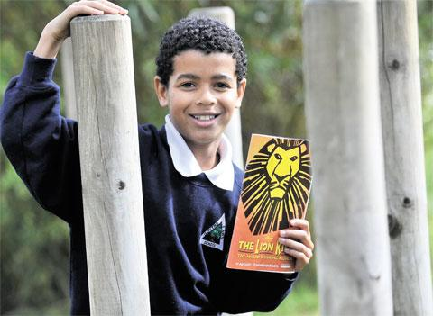 STAR: Jude Blake will play the lead role of Simba in The Lion King at Bristol