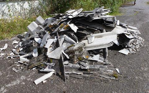 Asbestos dumped on Gwent Levels