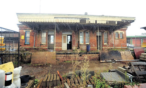 UPPING STICKS: Raglan's disused station is being moved