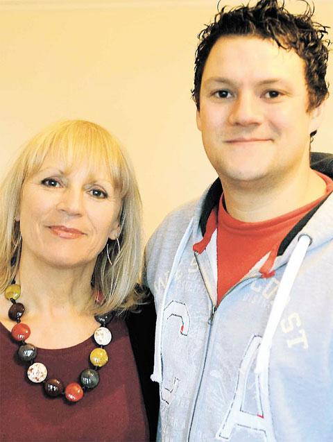 FUNDRAISING: Lynette Burton with son Lawrence