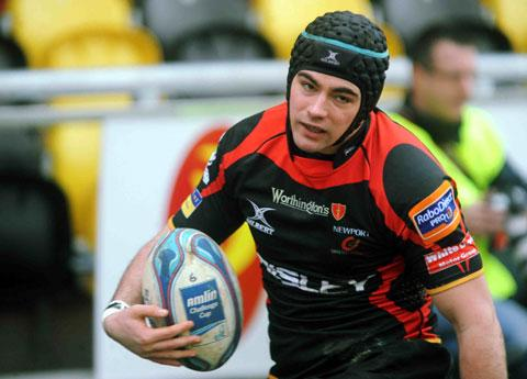 Adam Hughes' try was not enough for the Dragons at Parc y Scarlets