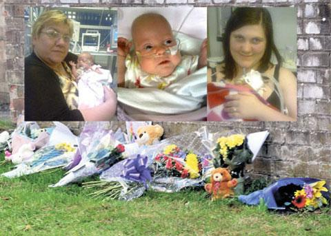 PERISHED IN BLAZE: Grandmother Kim Buckley, baby Kimberley and her mum Kayleigh