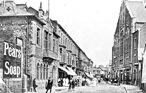 NOW AND THEN:  A scene from Torfaen
