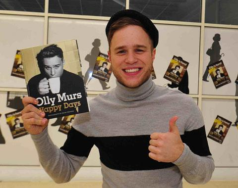 STAR VISIT: Olly Murs at Tesco at Spytty, Newport yesterday