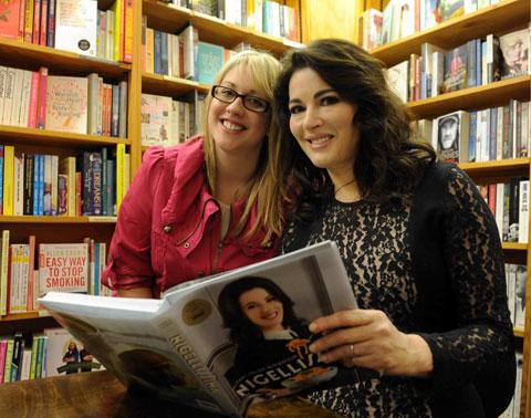 AUTOGRAPH BOOK: Nigella Lawson signs a copy of her latest book Jenny Foley, of Chepstow