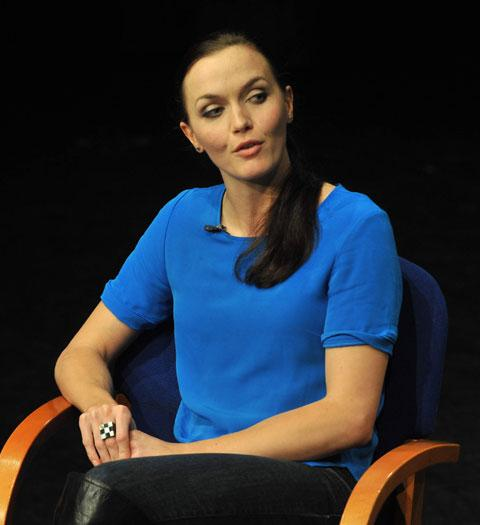 ON STAGE: Victoria Pendleton talking about her autobiography at The Blake Theatre in Monmouth