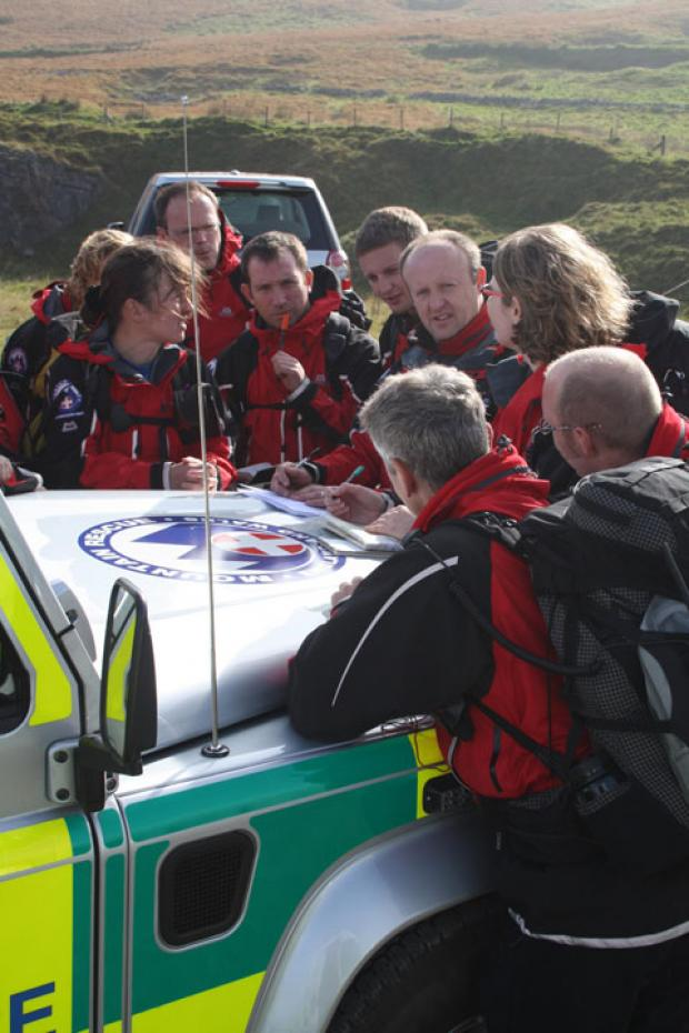 SEARCH HELP: The Abergavenny-based Longtown Mountain Recue Team