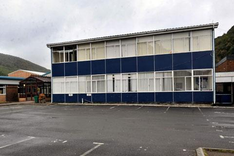 CLOSED: Cwmcarn High School yesterday Fears for education as asbestos school pupils may have to move