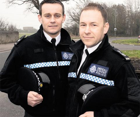 NOMINATED FOR BRAVERY AWARD: Sgt Gareth Drayton, 31, left, and Sgt Steve Drayton, 33