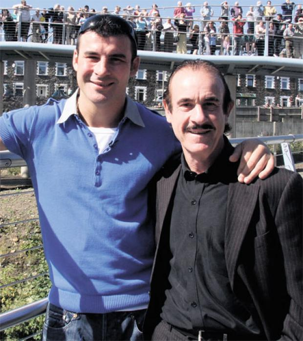 South Wales Argus: FATHER AND SON: Joe and Enzo Calzaghe