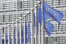 BUDGET ON AGENDA: Flags flying at the European Commission headquarters in Brussels