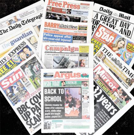 TOUGHER REGULATIONS: All newspapers are facing the backlash of the Leveson inquiry