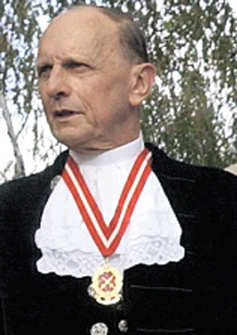 RESIGNED: Neville Waters, pictured when he was High Sheriff of Gwent