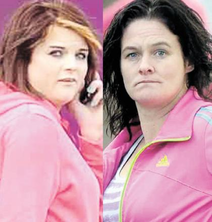 FRIENDS DISUNITED: Stephanie Skinner, left, and Claire McCarthy