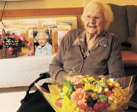 PARTY TIME: Doris Pobjoy, known as Poppy, who is celebrating her 100th birthday