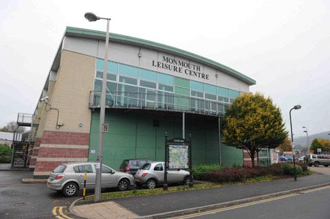 WALL COLLAPSED: Monmouth Leisure Centre