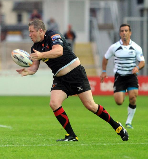 KEY MAN: Hooker and captain Steve Jones will be in the thick of the action for the Dragons tonight