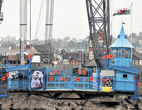 Poppy appeal is launched at Newport's Transporter Bridge
