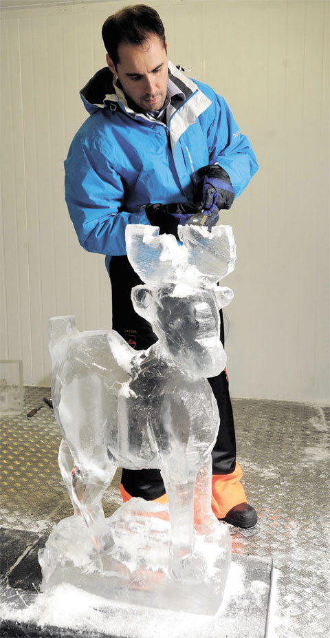 WORK EXPERIENCE: Our man tries ice sculpting