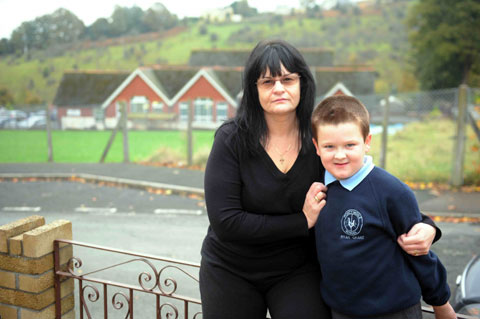 Debbie Grant whose seven-year-old son Ryan attends Pontymoile Primary
