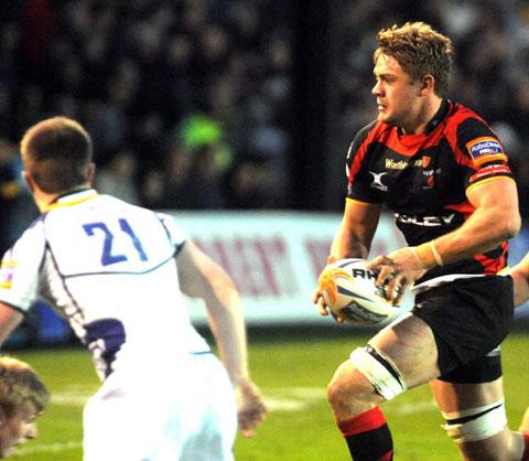 South Wales Argus: READY FOR BATTLE: Dragons skipper Lewis Evans
