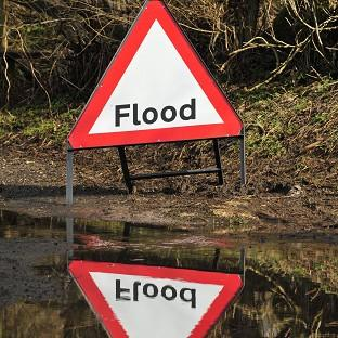Flooding closes A4042 in Abergavenny