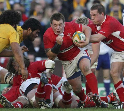 READY FOR BATTLE: Wales' Matthew Rees