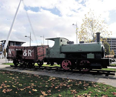 ON THE MOVE: The locomotive which stands alongside the river in Newport