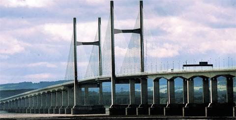 Woman airlifted to hospital after falling from the Second Severn Crossing