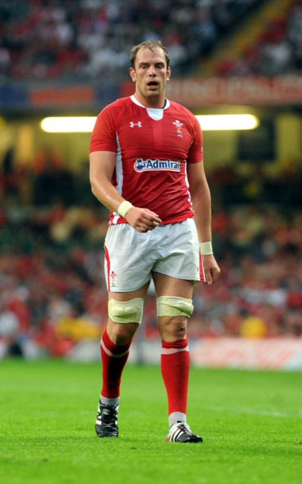 BACK FROM INJURY: Alun Wyn Jones