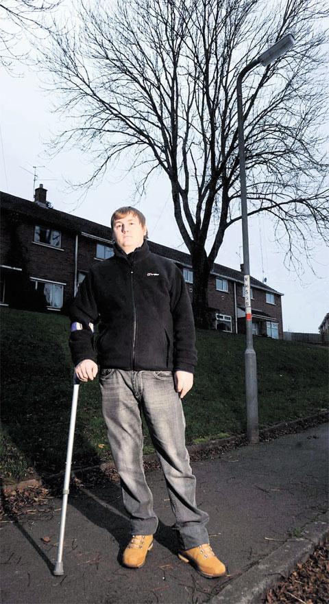 LIGHTING WORRY: Anthony Lock is afraid switching off streetlights near his home may lead to him falling