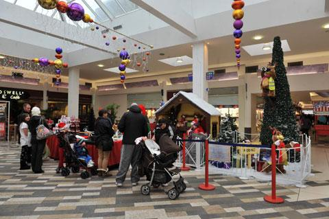 The launch of the St David's Foundation Santa grotto in the Kingsway Centre