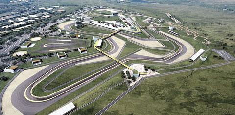 WELSH RACE CENTRE: The latest artist's impression of the Circuit of Wales, Ebbw Vale
