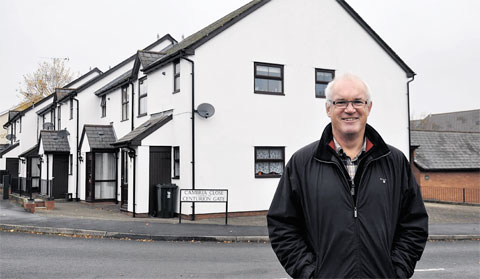 REFUGEES' STORY: Eddie Butler at the site of the former Cambria House, Caerleon