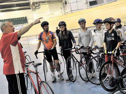 INCREASED INTEREST: One of the many family taster sessions at Newport Velodrome